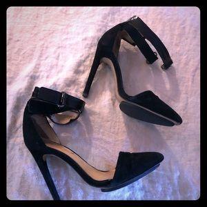 Lamb shoes black leather suede 6